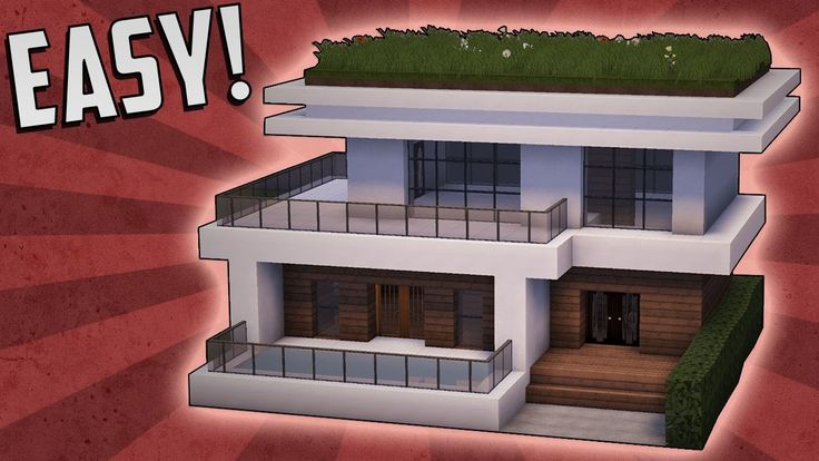 Minecraft: How To Build A Small Modern House Tutorial (#15)