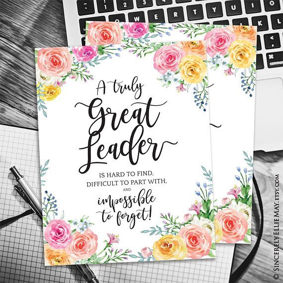 Great Leader Poster A Truly Great Leader Is Hard To Find Etsy
