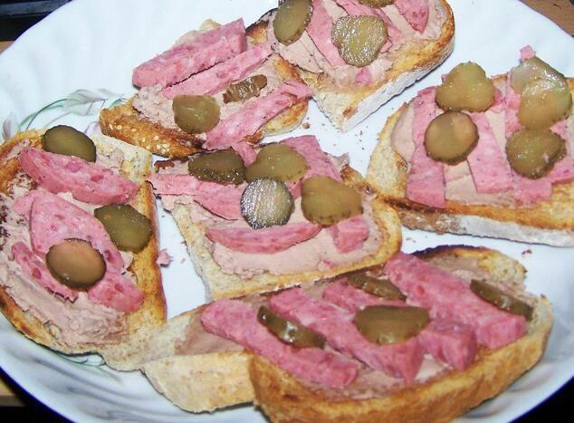 Toast with Sausage