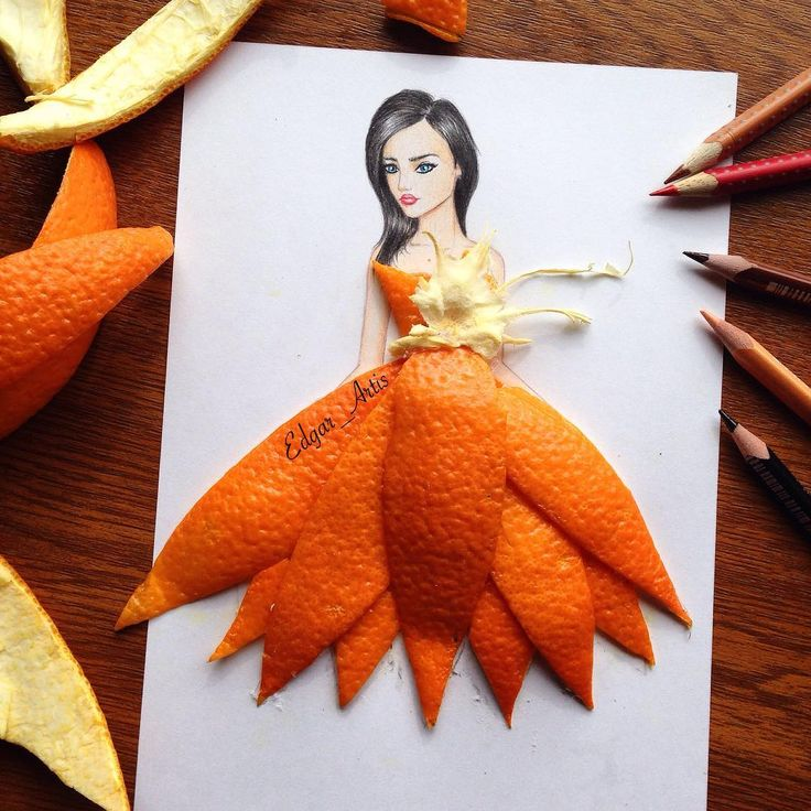 """""""Orange  everyday i do my best to create interesting illustrations so you like it . You guys are the best followers ever ❤️❤️❤️ ...#fashionista…"""""""
