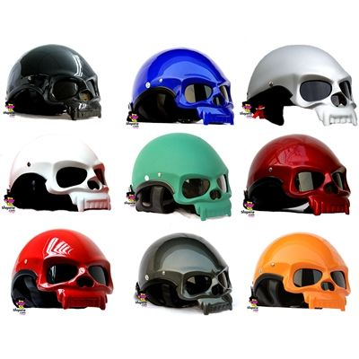 We promise what you are seeing is real, this is actually a 3D Skull Motorcycle Helmet! Welcome to the upper level of crazy motorcycle helmets.