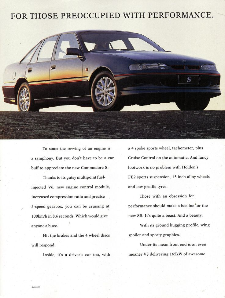 https://flic.kr/p/CsKzvV | 1994 VR Holden Commodore S & SS Sedan Page 1 Aussie Original Magazine Advertisement