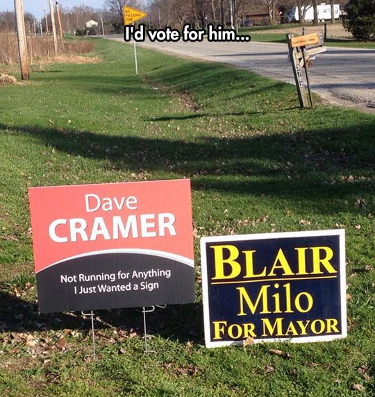I'd Vote For Him Too