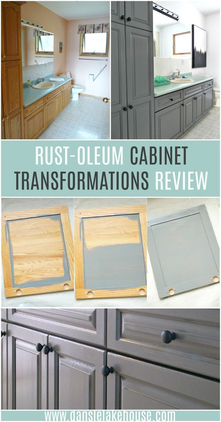 Rust Oleum Cabinet Transformations Review With Before And After Photos The Easy Way To Repaint Melamine Or Wood Cabinets With No Sa