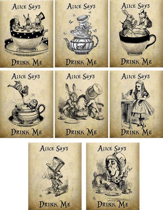 Alice in Wonderland Cappellaio bustina di tè di cardsbycorinne