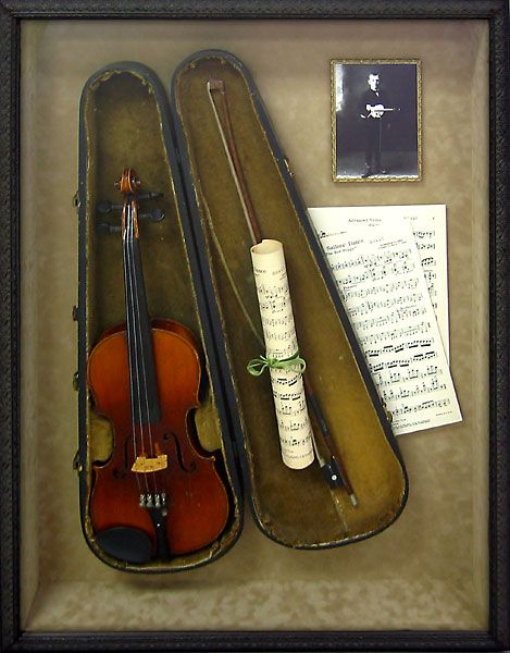 25 best ideas about large shadow box on pinterest for Violin decorating ideas