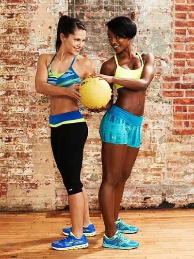 Grab a friend and do the Rotational Twist #exercise to work your abs and obliques!