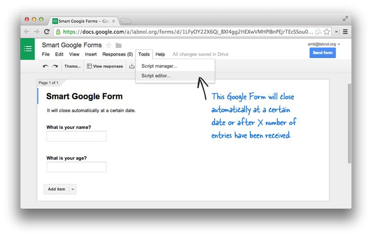 How to Schedule your Google Forms and Limit Submissions   Awesome ...