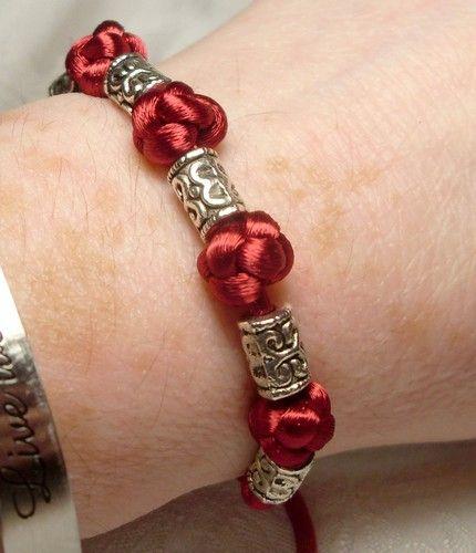 chinese button knot bracelet by HempLady4u.deviantart.com on @deviantART