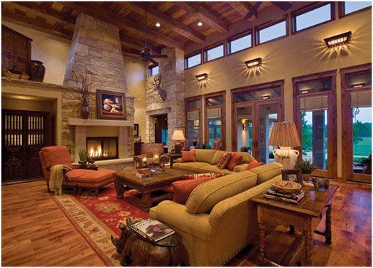 Lodge Style Resort Lobby, Modern Rustic Seating Area