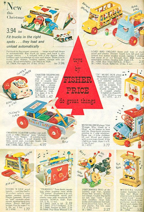 Fisher Price advertisement from 1965 #vintage #toys