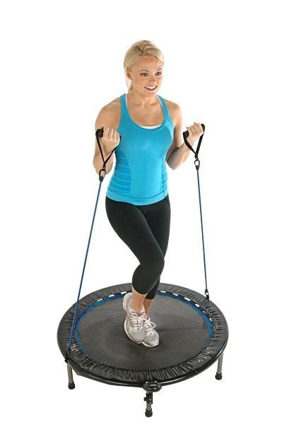 Fitness Mini Trampoline Rebounder Gym Workout Cardio Outdoor Home Exercise 38in. #Stamina