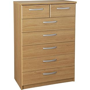Buy Collection New Hallingford 5+2 Drawer Chest - Oak Effect at Argos.co.uk, visit Argos.co.uk to shop online for Chest of drawers
