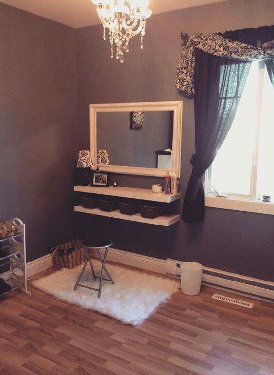 But you can make your own DIY makeup vanity table  These vanity tables not  only improve your morning but also make your all day nice and beautiful 25  best Corner vanity table ideas on Pinterest   Corner makeup  . Diy Vanity Table With Mirror. Home Design Ideas