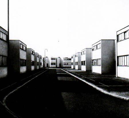 Walter Gropius. Torten Estate, Dessau, Germany, 1926-1928