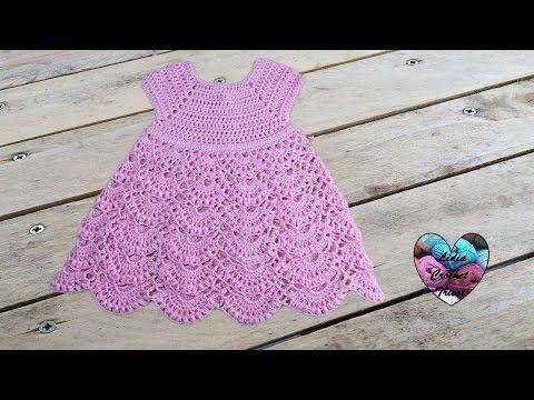 Robe princesse crochet toutes tailles 1/2 / Princess dress crochet all sizes (english subtitles) - YouTube