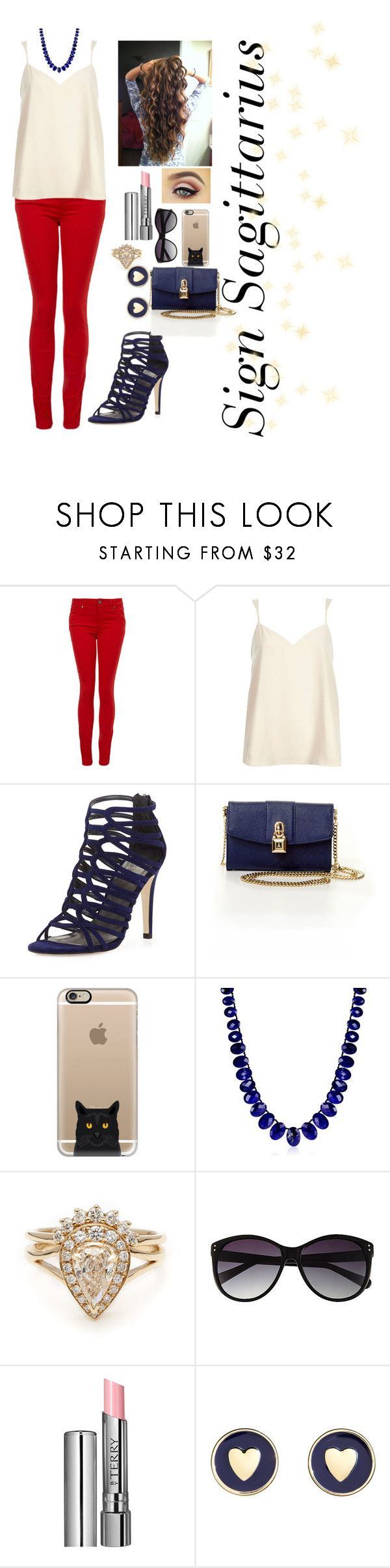 """""""Signo de Sagitário"""" by rebecadmais ❤ liked on Polyvore featuring Paige Denim, River Island, Stuart Weitzman, Patrizia Pepe, Casetify, Me&Ro, Vince Camuto, By Terry and Brooks Brothers"""