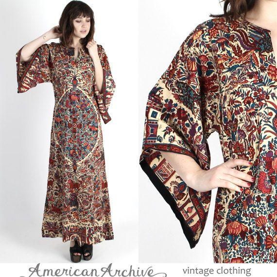 Ethnic Dress India Dress Caftan Dress Dashiki by americanarchive