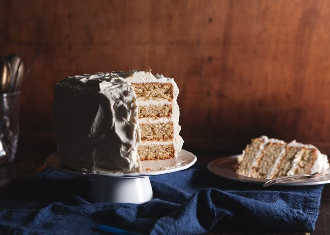 Pistachio Layer Cake w/ Honey Buttercream.: