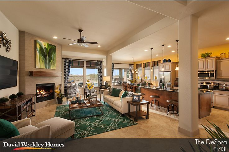 Open Floor Plan Kitchen Living And Dining In The Desosa