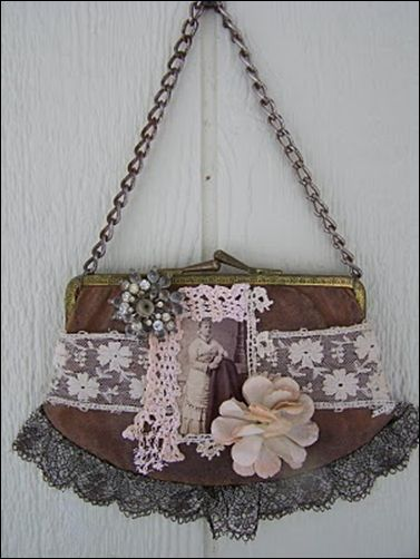 This bag is adorable made into an art piece...cheryl kuhn