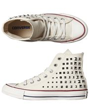 CONVERSE+CHUCK+TAYLOR+ALL+STAR+COLLAR+STUDS+HI+SHOE+-+EGRET+on+http://www.surfstitch.com