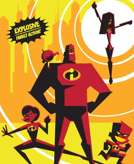 "Image of ""The Incredibles"" by Eric Tan- Paper (13"" x 19"")"