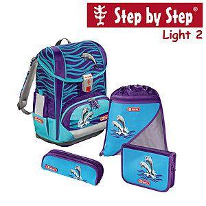 Step by Step Light2 Happy Doplhins, 4 tlg Schulranzen Set #Schulranzen #Ranzen #Schulanfang #Einschulung