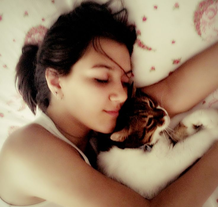 With my cat :)