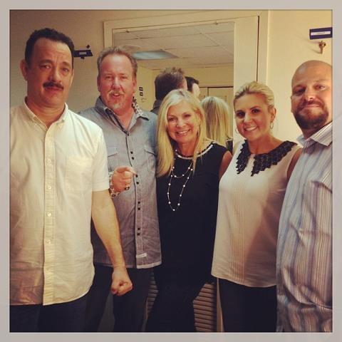 Tom Hanks and Brandi and Jerrod
