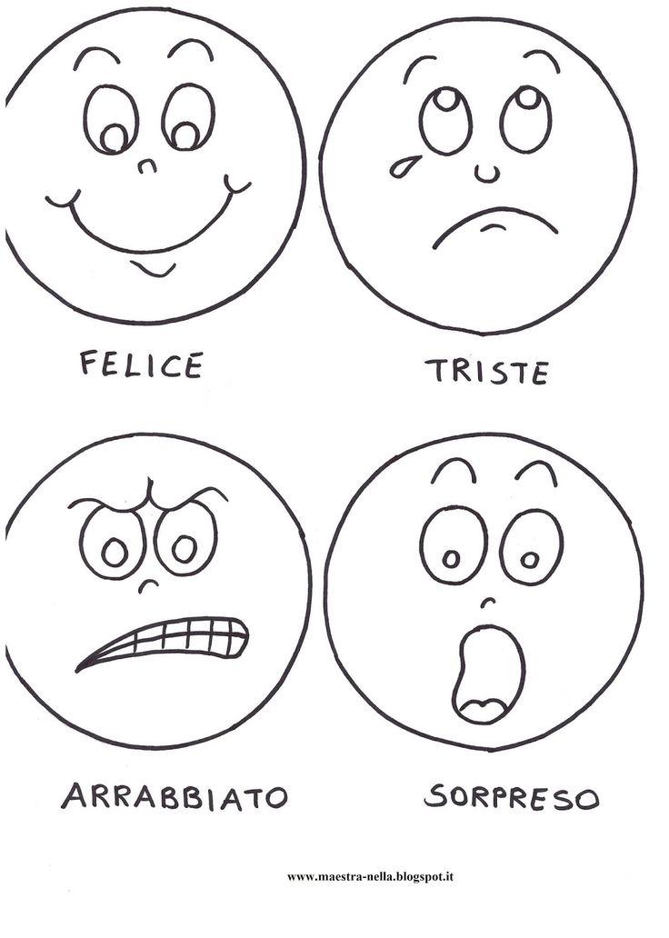 Una paletta per quattro emozioni : felicità , tristezza, rabbia e sorpresa . Costruirla è semplicissimo, basta ...