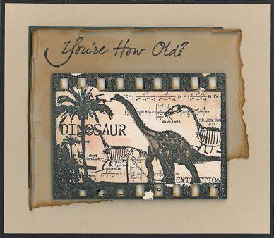 Stamp-it Australia: 4209F Dinosaur Filmstrip, siset023 You're How Old? - Card by Susan