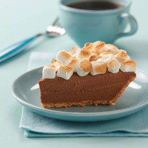 Dreamy Smore Pie  --  Haven't tried this one yet, but it's on the list of next deserts ..... YUM ... Hazelnut, chocolate and marshmello on a graham crust ... what is there possibly not to like.