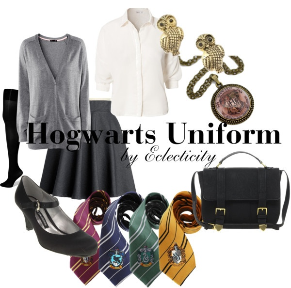 """""""Hogwarts Uniform"""" by whisperwings44 ❤ liked on Polyvore"""