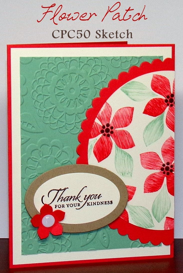 Create With Christy: Flower Patch Card - CPC50 Sketch