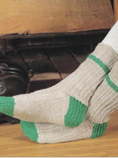 Knit A Basic Ribbed Sock With This Free Sock Knitting