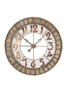 Sterling Rust Round Outdoor Wall Clock