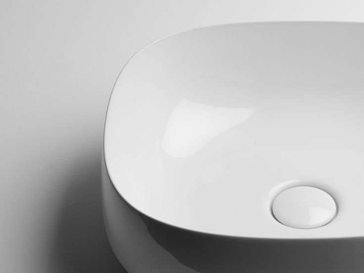 Countertop square washbasin Seed Collection by Valdama