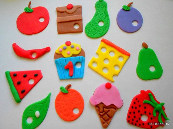13  Very Hungry Caterpillar Fondant Cupcake Toppers by ECTOPPERS