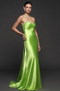 bright yellow green satin