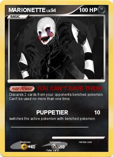 10 Best Images About Fnaf Pokemon Cards On Pinterest