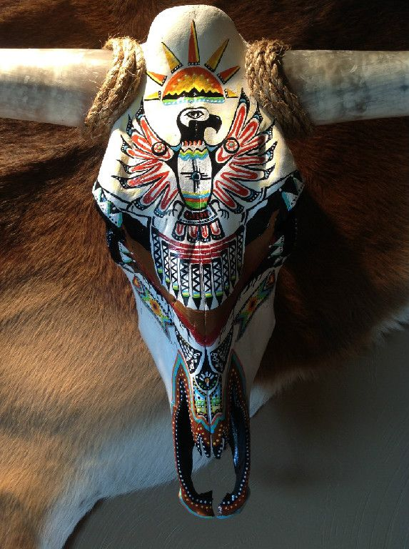 25 Best Ideas About Painted Cow Skulls On Pinterest Cow