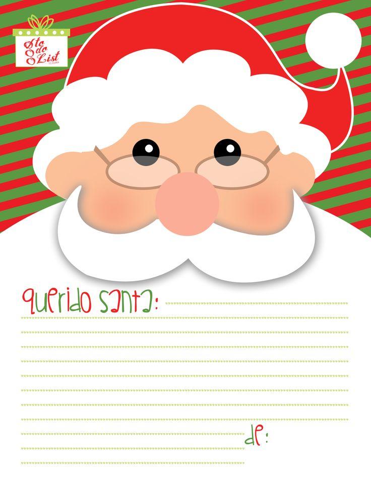 Free Printable: Carta para santa!                                                                                                                                                                                 Más