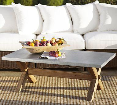 Abbott Zinc Top Rectangular Coffee Table