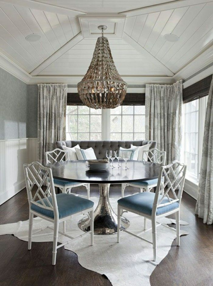 white blue Dining chairs