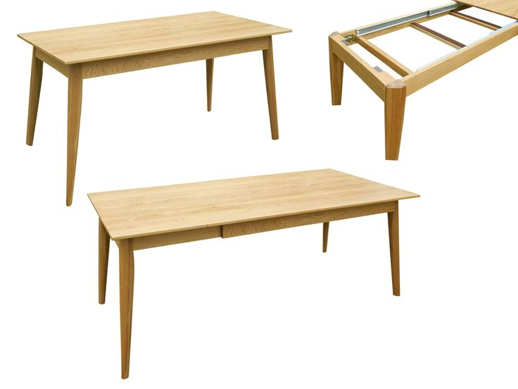 Stół (do jadalni) Franz 2, rozkładany, lite drewno (dąb) / Esstisch (aus Massivholz - Eichenholz) Franz 2 ➥ Stół posiada estetyczne boczne wkładki przedłużające blat (system Pöttker). ➥ Mit dem Pöttker-Auszugssystem ist dieser Tisch nun noch vielseitiger.