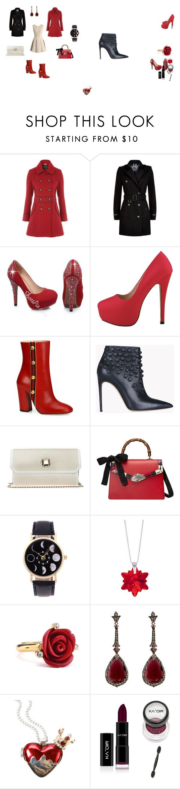 """Women set"" by tada-selo123 ❤ liked on Polyvore featuring Chicwish, Burberry, Gucci, Dsquared2, Elie Saab, Sevil Designs, Oscar de la Renta, Annoushka and Disney"