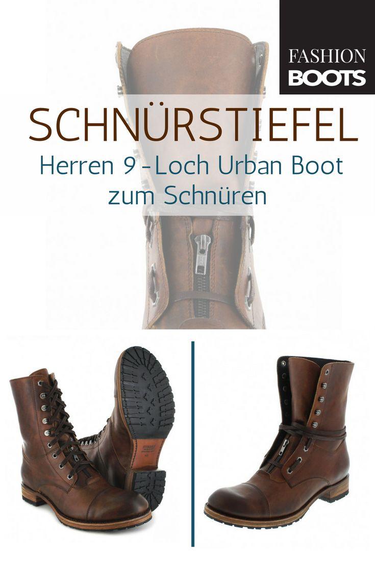 Sendra Boots 12334 Tang Urban Boot Schnürstiefel - braun | Trendiger Herren 9-Loch Urban Boot zum Schnüren
