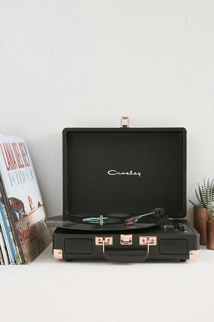 Crosley Cruiser Black and Rose Gold Vinyl Record Player