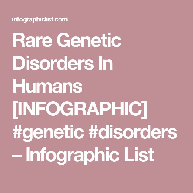 Rare genetic disorders in humans